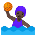 Woman Playing Water Polo: Dark Skin Tone on Google Android 9.0