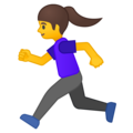 Woman Running on Google Android 9.0