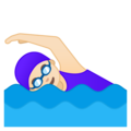 Woman Swimming: Light Skin Tone on Google Android 9.0