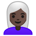 Woman, White Haired: Dark Skin Tone on Google Android 9.0