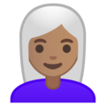 Woman, White Haired: Medium Skin Tone on Google Android 9.0