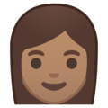 Woman: Medium Skin Tone on Google Android 9.0