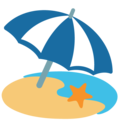 Beach With Umbrella on Google Android 7.1