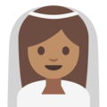 Bride With Veil: Medium Skin Tone on Google Android 7.1