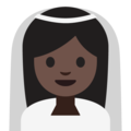 Bride With Veil: Dark Skin Tone on Google Android 7.1