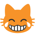 Cat Face With Tears of Joy on Google Android 7.1