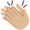 Clapping Hands: Medium-Light Skin Tone on Google Android 7.1
