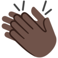Clapping Hands: Dark Skin Tone on Google Android 7.1