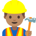 Construction Worker: Medium Skin Tone on Google Android 7.1
