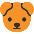 Dog Face on Google Android 7.1