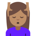 Person Getting Massage: Medium Skin Tone on Google Android 7.1