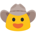 Cowboy Hat Face on Google Android 7.1