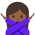 Person Gesturing No: Medium-Dark Skin Tone on Google Android 7.1