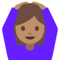 Person Gesturing OK: Medium Skin Tone on Google Android 7.1