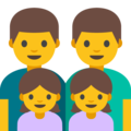 Family: Man, Man, Girl, Girl on Google Android 7.1