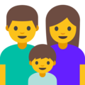 Family: Man, Woman, Boy on Google Android 7.1