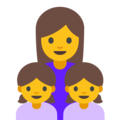 Family: Woman, Girl, Girl on Google Android 7.1