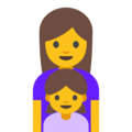 Family: Woman, Girl on Google Android 7.1