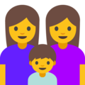 Family: Woman, Woman, Boy on Google Android 7.1