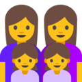 Family: Woman, Woman, Girl, Girl on Google Android 7.1