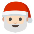 Santa Claus: Light Skin Tone on Google Android 7.1