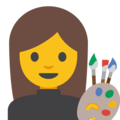 Woman Artist on Google Android 7.1