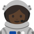 Woman Astronaut: Medium-Dark Skin Tone on Google Android 7.1
