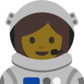 Woman Astronaut on Google Android 7.1