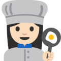 Woman Cook: Light Skin Tone on Google Android 7.1