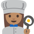 Woman Cook: Medium Skin Tone on Google Android 7.1