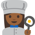 Woman Cook: Medium-Dark Skin Tone on Google Android 7.1