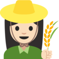Woman Farmer: Light Skin Tone on Google Android 7.1