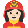 Woman Firefighter: Light Skin Tone on Google Android 7.1