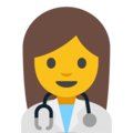 Woman Health Worker on Google Android 7.1
