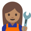 Woman Mechanic: Medium Skin Tone on Google Android 7.1