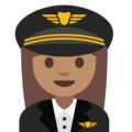 Woman Pilot: Medium Skin Tone on Google Android 7.1