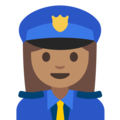 Woman Police Officer: Medium Skin Tone on Google Android 7.1