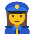 Woman Police Officer on Google Android 7.1