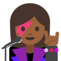 Woman Singer: Medium-Dark Skin Tone on Google Android 7.1