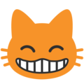 Grinning Cat Face With Smiling Eyes on Google Android 7.1