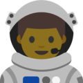 Man Astronaut on Google Android 7.1