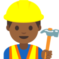 Man Construction Worker: Medium-Dark Skin Tone on Google Android 7.1