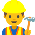 Man Construction Worker on Google Android 7.1