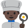 Man Cook: Dark Skin Tone on Google Android 7.1
