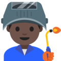 Man Factory Worker: Dark Skin Tone on Google Android 7.1