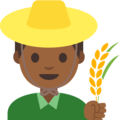 Man Farmer: Medium-Dark Skin Tone on Google Android 7.1