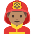 Man Firefighter: Medium Skin Tone on Google Android 7.1