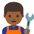 Man Mechanic: Medium-Dark Skin Tone on Google Android 7.1