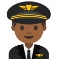Man Pilot: Medium-Dark Skin Tone on Google Android 7.1