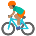 Man Biking: Medium Skin Tone on Google Android 7.1